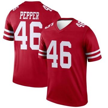 Youth Nike San Francisco 49ers Taybor Pepper Scarlet Jersey - Legend