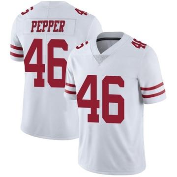Youth Nike San Francisco 49ers Taybor Pepper White Vapor Untouchable Jersey - Limited