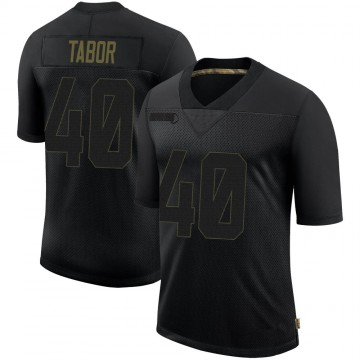 Youth Nike San Francisco 49ers Teez Tabor Black 2020 Salute To Service Jersey - Limited