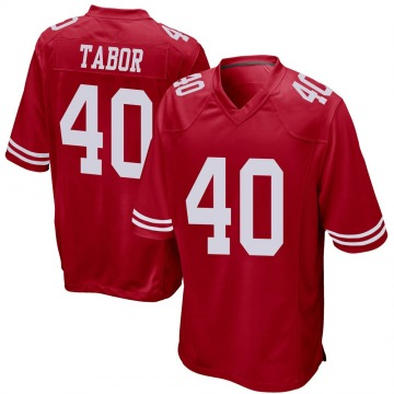 Youth Nike San Francisco 49ers Teez Tabor Red Team Color Jersey - Game