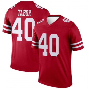 Youth Nike San Francisco 49ers Teez Tabor Scarlet Jersey - Legend