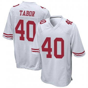 Youth Nike San Francisco 49ers Teez Tabor White Jersey - Game