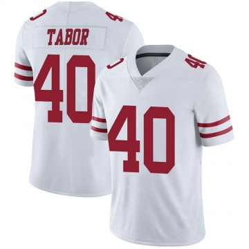 Youth Nike San Francisco 49ers Teez Tabor White Vapor Untouchable Jersey - Limited