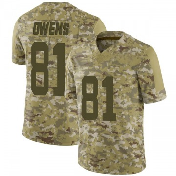 Youth Nike San Francisco 49ers Terrell Owens Camo 2018 Salute to Service Jersey - Limited
