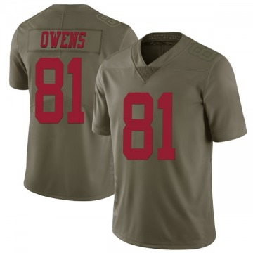 Youth Nike San Francisco 49ers Terrell Owens Green 2017 Salute to Service Jersey - Limited