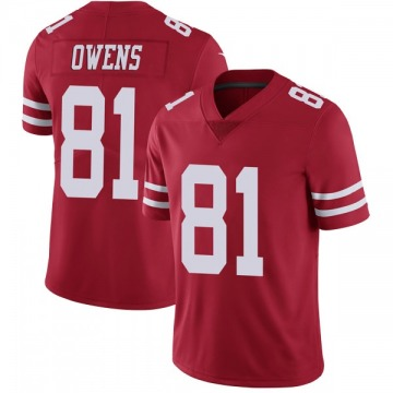 Youth Nike San Francisco 49ers Terrell Owens Red Team Color Vapor Untouchable Jersey - Limited