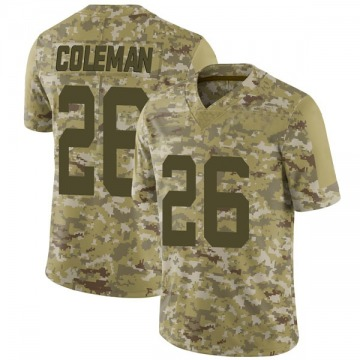 Youth Nike San Francisco 49ers Tevin Coleman Camo 2018 Salute to Service Jersey - Limited