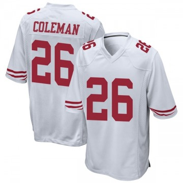Youth Nike San Francisco 49ers Tevin Coleman White Jersey - Game