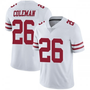 Youth Nike San Francisco 49ers Tevin Coleman White Vapor Untouchable Jersey - Limited