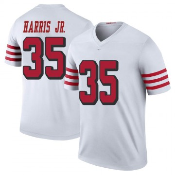 Youth Nike San Francisco 49ers Tim Harris White Color Rush Jersey - Legend