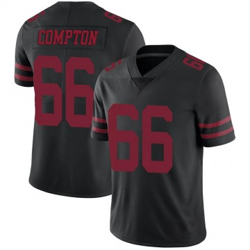 Youth Nike San Francisco 49ers Tom Compton Black Alternate Vapor Untouchable Jersey - Limited