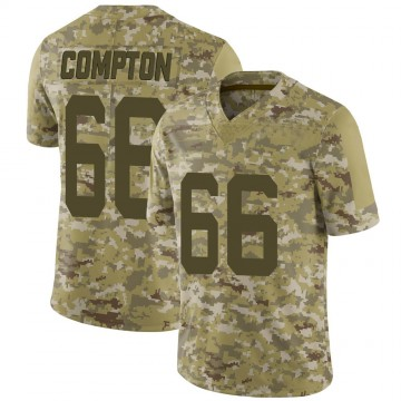 Youth Nike San Francisco 49ers Tom Compton Camo 2018 Salute to Service Jersey - Limited