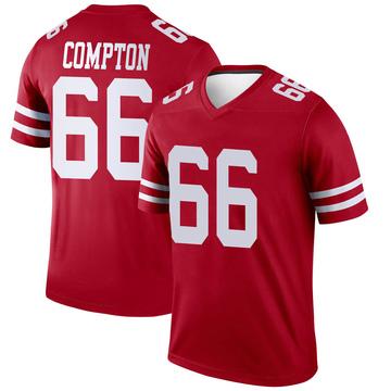 Youth Nike San Francisco 49ers Tom Compton Scarlet Jersey - Legend