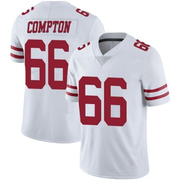 Youth Nike San Francisco 49ers Tom Compton White Vapor Untouchable Jersey - Limited