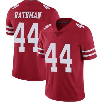 Youth Nike San Francisco 49ers Tom Rathman Red Team Color Vapor Untouchable Jersey - Limited
