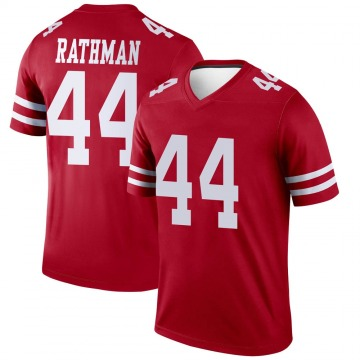 Youth Nike San Francisco 49ers Tom Rathman Scarlet Jersey - Legend