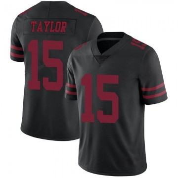 Youth Nike San Francisco 49ers Trent Taylor Black Alternate Vapor Untouchable Jersey - Limited