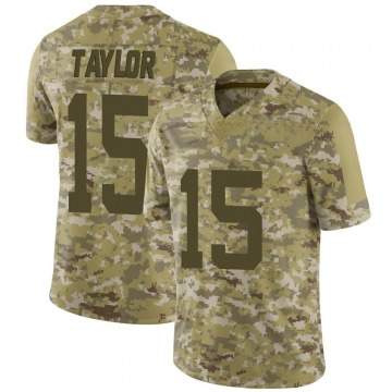 Youth Nike San Francisco 49ers Trent Taylor Camo 2018 Salute to Service Jersey - Limited