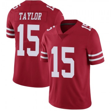 Youth Nike San Francisco 49ers Trent Taylor Scarlet 100th Vapor Jersey - Limited