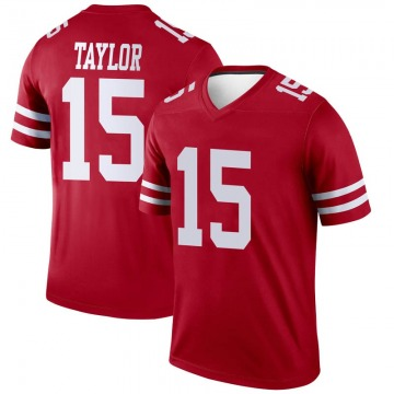 Youth Nike San Francisco 49ers Trent Taylor Scarlet Jersey - Legend