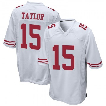 Youth Nike San Francisco 49ers Trent Taylor White Jersey - Game
