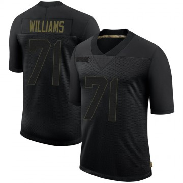 Youth Nike San Francisco 49ers Trent Williams Black 2020 Salute To Service Jersey - Limited
