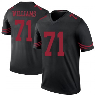 Youth Nike San Francisco 49ers Trent Williams Black Color Rush Jersey - Legend