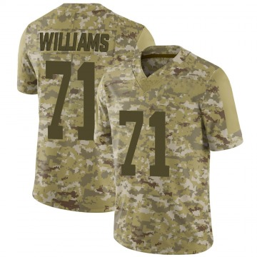 Youth Nike San Francisco 49ers Trent Williams Camo 2018 Salute to Service Jersey - Limited