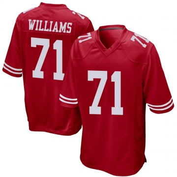 Youth Nike San Francisco 49ers Trent Williams Red Team Color Jersey - Game