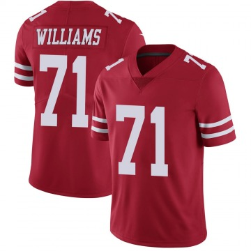 Youth Nike San Francisco 49ers Trent Williams Red Team Color Vapor Untouchable Jersey - Limited