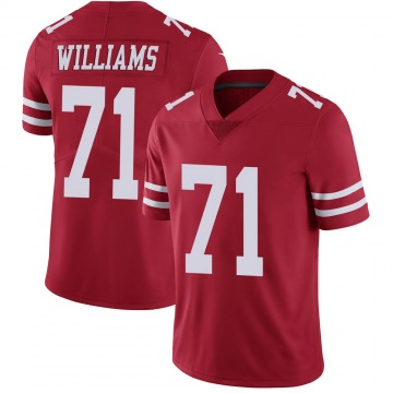 Youth Nike San Francisco 49ers Trent Williams Scarlet 100th Vapor Jersey - Limited