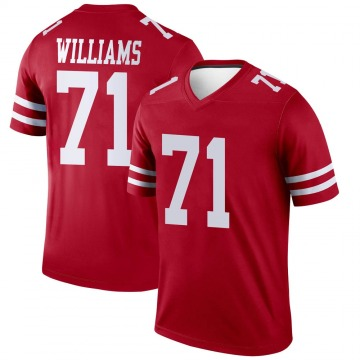 Youth Nike San Francisco 49ers Trent Williams Scarlet Jersey - Legend