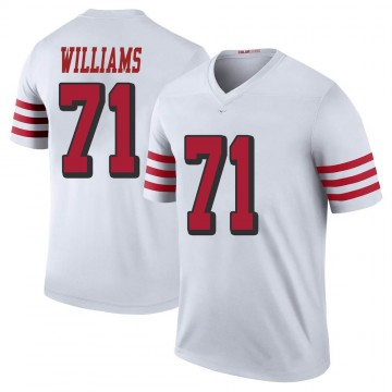 Youth Nike San Francisco 49ers Trent Williams White Color Rush Jersey - Legend
