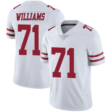 Youth Nike San Francisco 49ers Trent Williams White Vapor Untouchable Jersey - Limited
