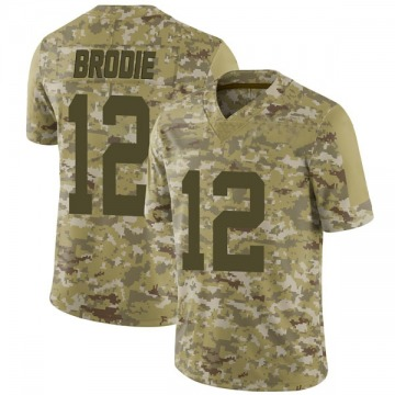 Youth Nike San Francisco 49ers Wilson John Brodie Camo 2018 Salute to Service Jersey - Limited