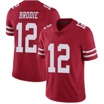 Youth Nike San Francisco 49ers Wilson John Brodie Red Team Color Vapor Untouchable Jersey - Limited