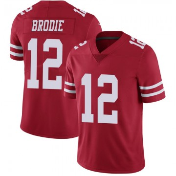 Youth Nike San Francisco 49ers Wilson John Brodie Scarlet 100th Vapor Jersey - Limited