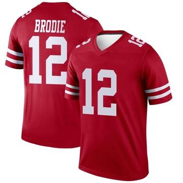 Youth Nike San Francisco 49ers Wilson John Brodie Scarlet Jersey - Legend