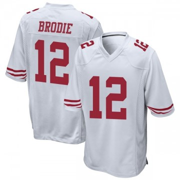 Youth Nike San Francisco 49ers Wilson John Brodie White Jersey - Game