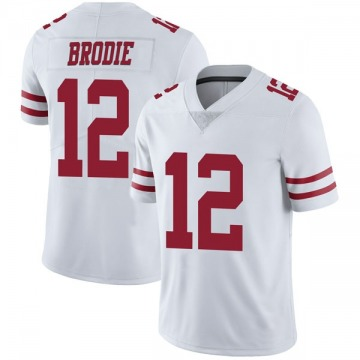 Youth Nike San Francisco 49ers Wilson John Brodie White Vapor Untouchable Jersey - Limited