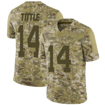 Youth Nike San Francisco 49ers Y.A. Tittle Camo 2018 Salute to Service Jersey - Limited