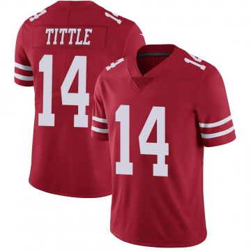 Youth Nike San Francisco 49ers Y.A. Tittle Scarlet 100th Vapor Jersey - Limited