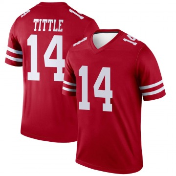 Youth Nike San Francisco 49ers Y.A. Tittle Scarlet Jersey - Legend