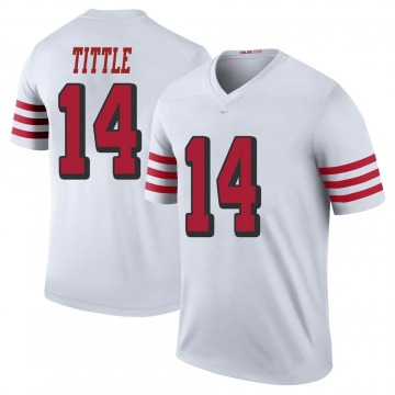 Youth Nike San Francisco 49ers Y.A. Tittle White Color Rush Jersey - Legend