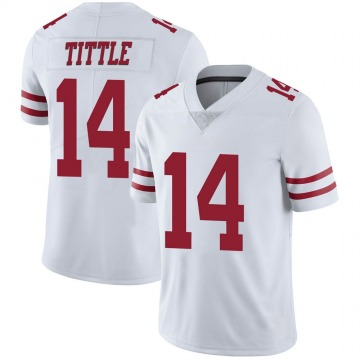 Youth Nike San Francisco 49ers Y.A. Tittle White Vapor Untouchable Jersey - Limited